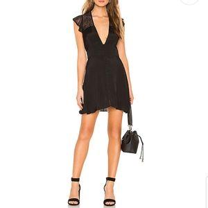 💜NWT Free People Carolina Mini Dress in Black